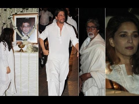 Shahrukh Khan, Amitabh, Madhuri, Tabbu At Prayer Meet Of Juhi Chawla's Brother