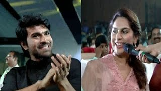 Anchor Vindhya Funny Questions to Upasana | Bruce Lee Audio Launch | Ram Charan
