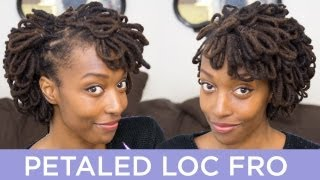 getlinkyoutube.com-Loc Hairstyle Tutorial: Petaled Loc Fro