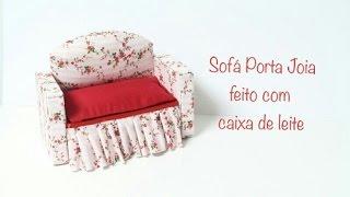 getlinkyoutube.com-Sofá porta joia feito com caixa de leite