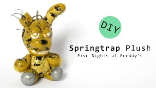getlinkyoutube.com-Five Nights at Freddy's 3 Springtrap Plush Polymer Clay Tutorial