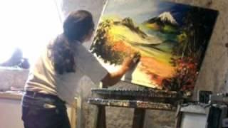 getlinkyoutube.com-Cristobal Ortega pinta un cuadro en pocos minutos