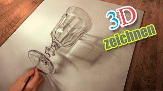 getlinkyoutube.com-Malen und zeichnen realistisch in 3D / Illusionsmalerei