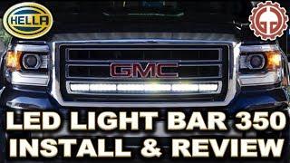 getlinkyoutube.com-HELLA LED Light Bar 350 UNBOX, INSTALL, & DEMO