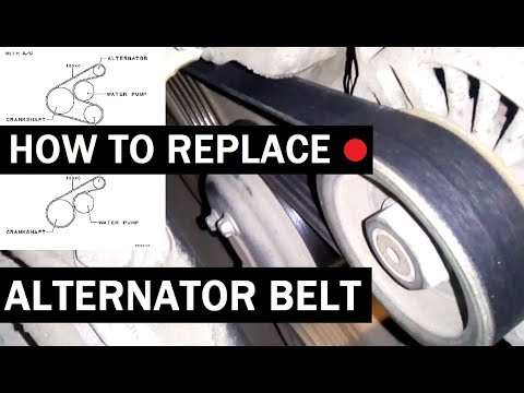 How to replace alternator belt