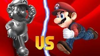 getlinkyoutube.com-SSBB Hacks: Metal Mario(PSA) Vs SMBZ Mario(PSA)