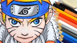 Como desenhar o NARUTO passo a passo - How to draw NARUTO step by step