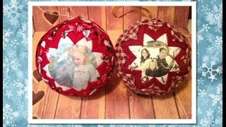 getlinkyoutube.com-No Sew Quilted Picture Ornament (No Sew Ornament)