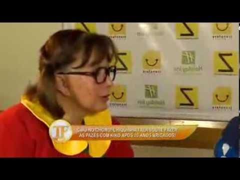 tv fama Chiquinha se emociona ao lembrar da turma do Chaves 14 01 2014 mircmirc