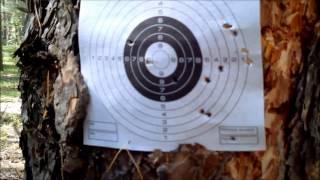 getlinkyoutube.com-Стрельба пулями Шмель 1,04 гр. и JSB EXACT Monster Diabolo из  винтовок Hatsan AT44-10