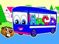 The Wheels On The Bus | Blue Bus Version | Popular Children's Nursery Song | Little Baby Rhyme