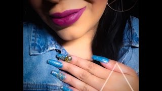 getlinkyoutube.com-Uñas Mezclilla - Denim Nails