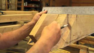 getlinkyoutube.com-HOW TO CUT AND HAND TOOL FINISH A TENON FOR A TIMBER FRAME HOME