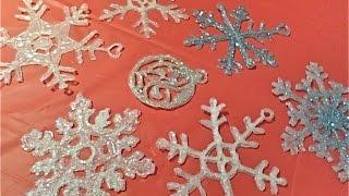 getlinkyoutube.com-Copos de nieve con silicón caliente / Glue gun snowflakes