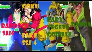 getlinkyoutube.com-Dbz Tenkaichi Tag Team mod goku SSJ4 and Bardock SSJ 4 VS baby vegeta gorrille