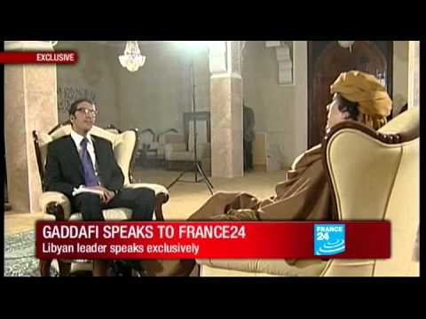 Exclusive - Libya : Muammar Gaddafi speaks to FRANCE 24
