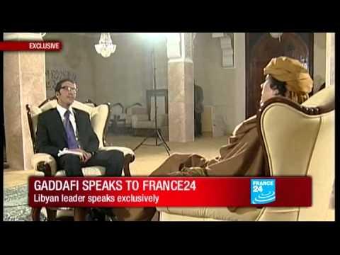 Exclusive - Libya : Muammar Gaddafi speaks to FRANCE 24