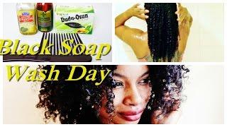 getlinkyoutube.com-BLACK SOAP ON NATURAL HAIR