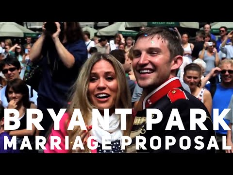 NYC Bryant Park Flash Mob Marriage Proposal OFFICIAL VIDEO from Choreographer-Derek Mitchell