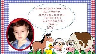 getlinkyoutube.com-Como fazer convite infantil com foto no word
