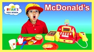 getlinkyoutube.com-McDonald's Cash Register Toy Pretend Play Food Cookie Monster Happy Meal Trolls Toys For Kids