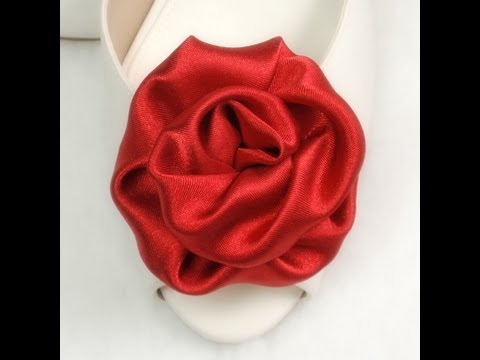 Fabric Flowers Roses,  Tutorial, DIY