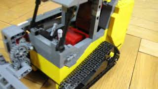 getlinkyoutube.com-Lego JCB 180 Tracked Skid Steer Loader