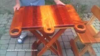 getlinkyoutube.com-Folding Redwood Table-www.MichaelFrazierDesigns.com