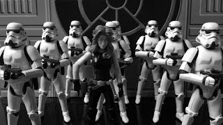 getlinkyoutube.com-Black & White Star Wars Action Figure Dioramas