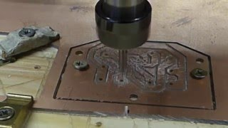 getlinkyoutube.com-PCB Milling with 60° Vee cutter