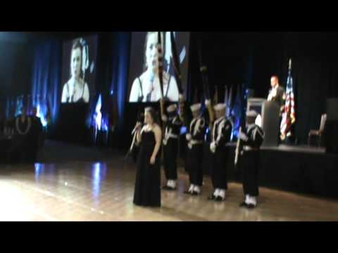 US Navy Submarine Division Ball 2013 National Anthem