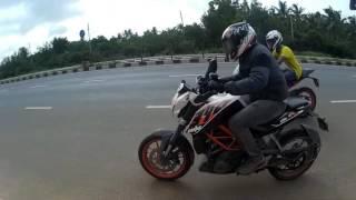 getlinkyoutube.com-RC390 vs DUKE390 drag race || indian motovlogs