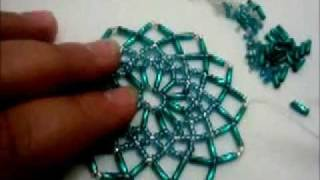 getlinkyoutube.com-tuto détaillée du napperon en perles Tuto detailed beaded placemat
