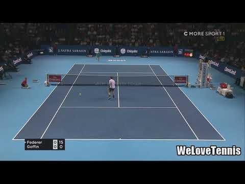 Roger Federer vs David Goffin Semifinals Basilea 2017 HD