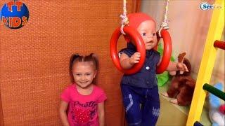 getlinkyoutube.com-✔ Кукла Беби Борн и Ярослава – время развлечений и игр с малышом. / Baby Born with Yaroslava ✔