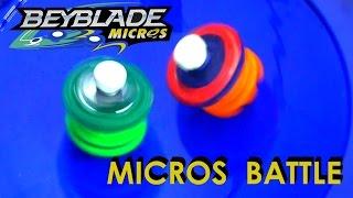 Beyblade Burst by Hasbro Micros - Horusood vs Kerbeus Battle