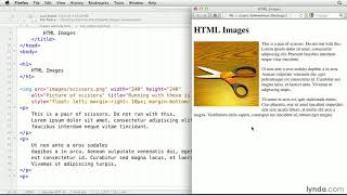 HTML tutorial: Flowing text around an image | lynda.com