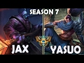 Best Jax Korea 59% Win Ratio vs Yasuo TOP Rank #31 Challenger 744 LP
