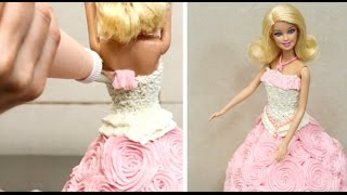 getlinkyoutube.com-How To Decorate A Barbie Doll Cake/Pastel Muñeca Barbie!!!