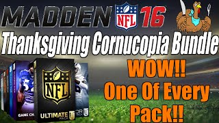 getlinkyoutube.com-MUT 16 Thanksgiving Cornucopia Bundle Pack Opening | WOW! One Of Every Pack! | MUT 16 Pack Opening