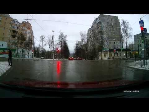 Калуга. Проезд на красный свет