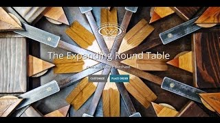getlinkyoutube.com-Expanding Round Table from Reclaimed Barn Wood