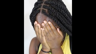 getlinkyoutube.com-(TUTORIAL) Marley twist using Cuban or Mojito twist Marley hair