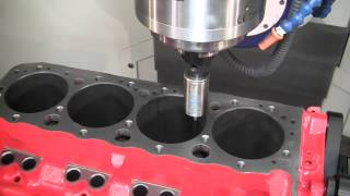 getlinkyoutube.com-Combo 5-axis CNC Cylinder Head & Block Machining center: The CENTROID A560 Port/Block