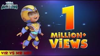 Hindi Cartoons for kids   Vir: The Robot Boy   Vir Vs Mr. Hat   WowKidz Action width=