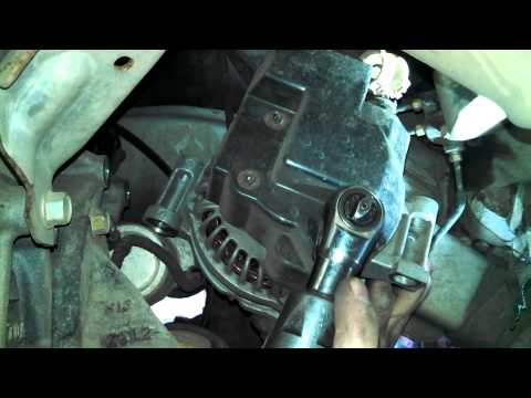 Alternator replacement 2003 Mazda 6 2.3L Install Remove Replace how to change