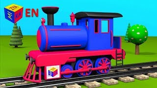 getlinkyoutube.com-Trains for children kids toddlers. Construction game: steam locomotive. Educational cartoon