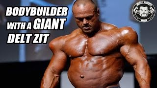 getlinkyoutube.com-Bodybuilder With Synthol Shoulders And 9 Months Pregnant Ripped Belly!