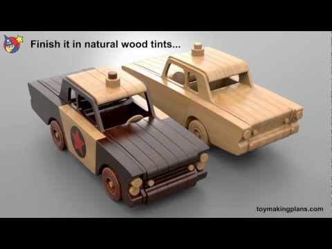 Wood Toy Plans - Mayberry Police Car