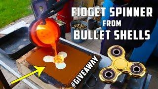 Casting Brass Fidget Spinner from Bullet Shells width=